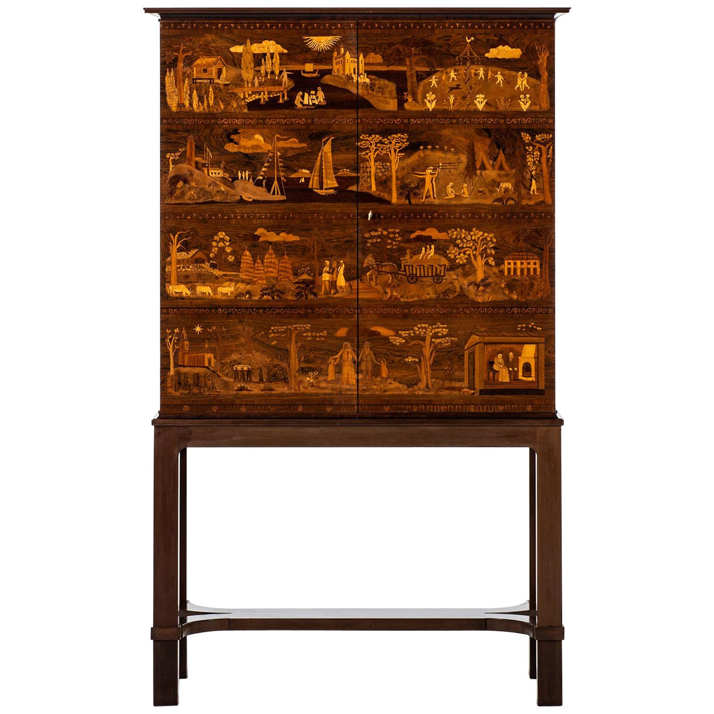 Carl Malmstem Master Cabinet The Four Ages Produced by David Blomberg in Sweden