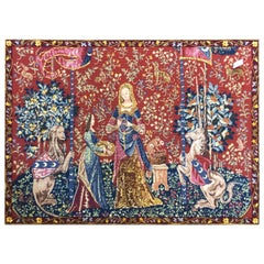 """The Lady and the Unicorn"" Woven Flanders Tapestry in Style"