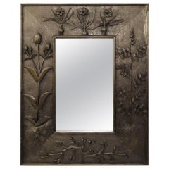 0be79cdf7d0a Large Wall Mirror of Floor Mirror with a Carved Wood Frame For Sale ...