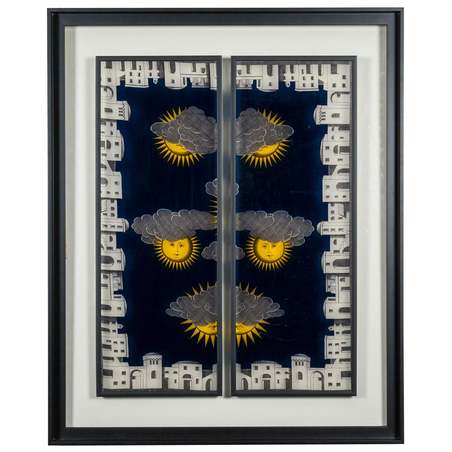 Framed Fornasetti Painted Panels at cost price