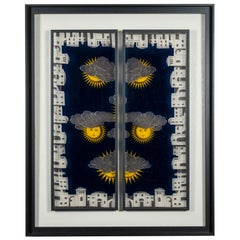 Framed Fornasetti Painted Panels