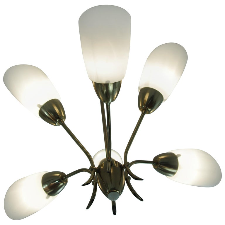 Chandelier, circa 1980, Made in Czechoslovakia For Sale