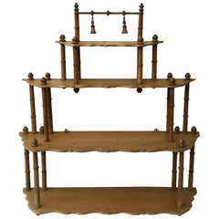 19th Century French Faux Bamboo Wood Shelf