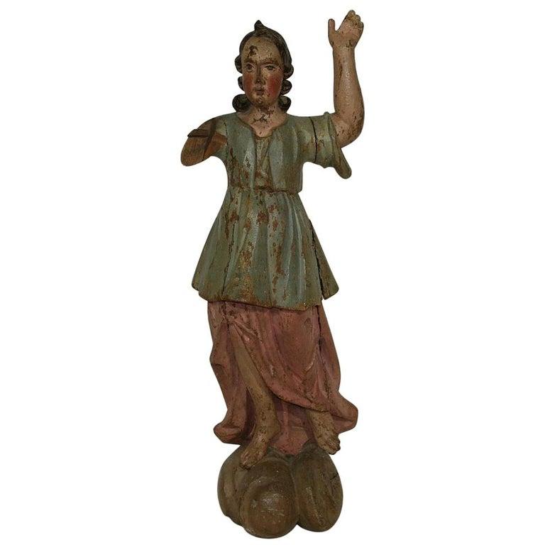 18th Century, Italian Baroque Angel Figure For Sale
