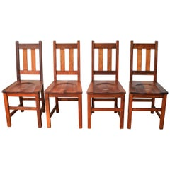 Set of Four Vintage South African Railways Desk Chairs