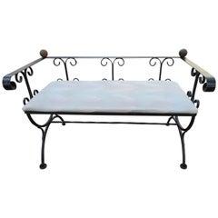 Charming Minimal Design Scroll Iron Bench