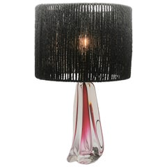 Large Val Saint Lambert Crystal Table Lamp, Excellent Condition '10.58 Pound'