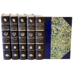 Books, The History of the French Revolution, Collection Antique Leatherbound Set
