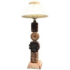 Vintage TOTEM Floor Lamp in Ceramic by Bernard Rooke, 1970s