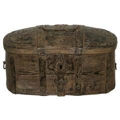 Swedish 18th Century Bentwood Travel Box or Chest