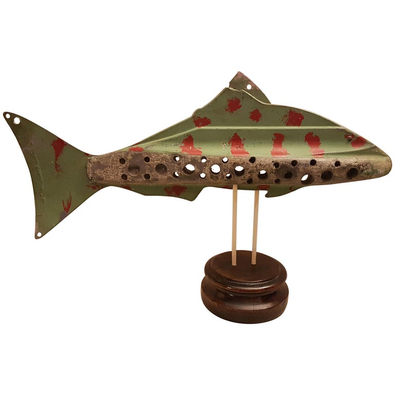 Large Mid-20th Century American Ice Fishing Decoy For Sale