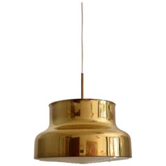 Vintage 'Bumling' Pendant Ceiling Lamp in Brass by Anders Pehrson