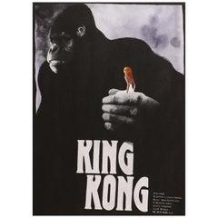 """King Kong"" Original Vintage Movie Poster, Czech, 1989"