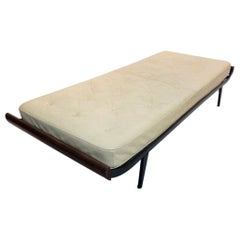 Teak Cleopatra Daybed with Original Leather Mattress by Cordemeijer for Auping