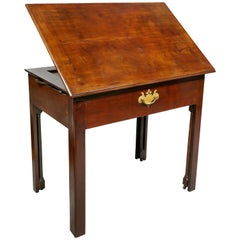 George III Mahogany Architects Table
