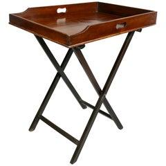 Victorian Mahogany Tray Table on Stand