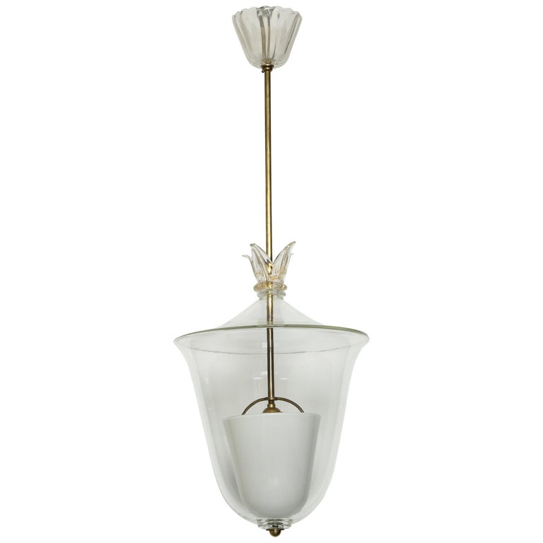 Archimede Seguso Ceiling Pendant For Sale