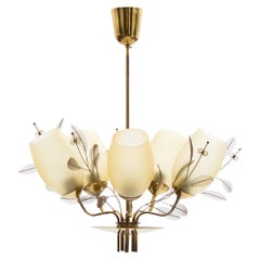 Paavo Tynell Five-Arm Chandelier for Taito Oy Model 9029/5, Finland, circa 1950