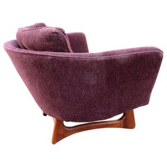 Lovely Adrian Pearsall Barrel Back Walnut Lounge Chair Mid-Century Modern