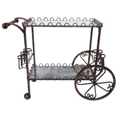 Vintage Modern Iron Bar Cart