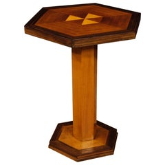 20th Century Wood French Art Deco Style Side Table, 1960