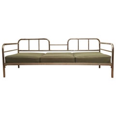 Tubular Steel Couch / Daybed by Robert Slezak, 1930s