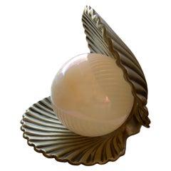Vintage Jugendstil Stil Muschel und Perle Tischleuchte
