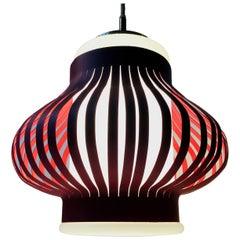 Danish Modern 'Opal Lamella' Pendant Lamp by Svend Aage Holm-sørensen, 1950s