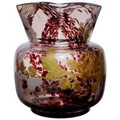 Ernest Baptiste Leveille Jugendstil vergoldete Blumen Vase