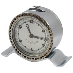 Rare Oralux Art Deco Machine Age Chrome Table Clock for Blind People