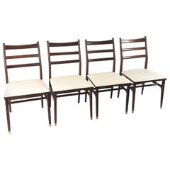 Set of Four Vintage Gio Ponti Style Leggera Chairs