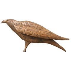 Early Belgium Carved Wooden Eagle Wall Sculpture