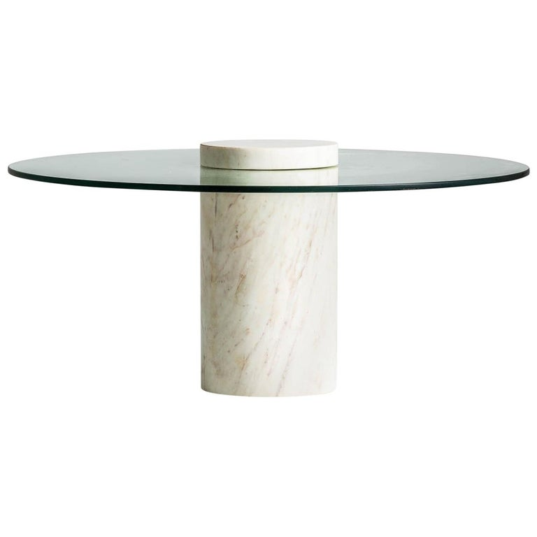 Italian Style And 1970s Design Marble And Glass Round