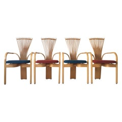 Extraordinary Memphis Style TOTEM Chairs by Torstein Nilsen for Westnofa, 1980s