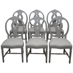 Swedish Gustavian Chairs, Set of 6, 1920