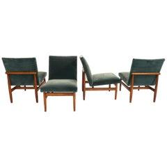 4 dänische eleganten Lounge-Stühle