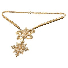 Short Necklace 'choker', Gold, Pearls, circa Late 19th Century