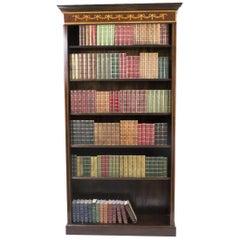 Sheraton Style Open Bookcase Flame Mahogany