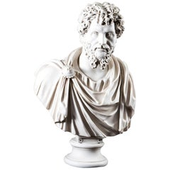 Stunning Marble Bust Roman Emperor Septimius Severus