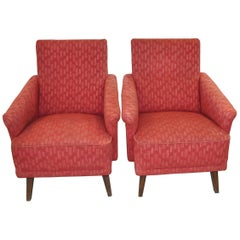 Pair of Original Midcentury Armchairs, circa 1950