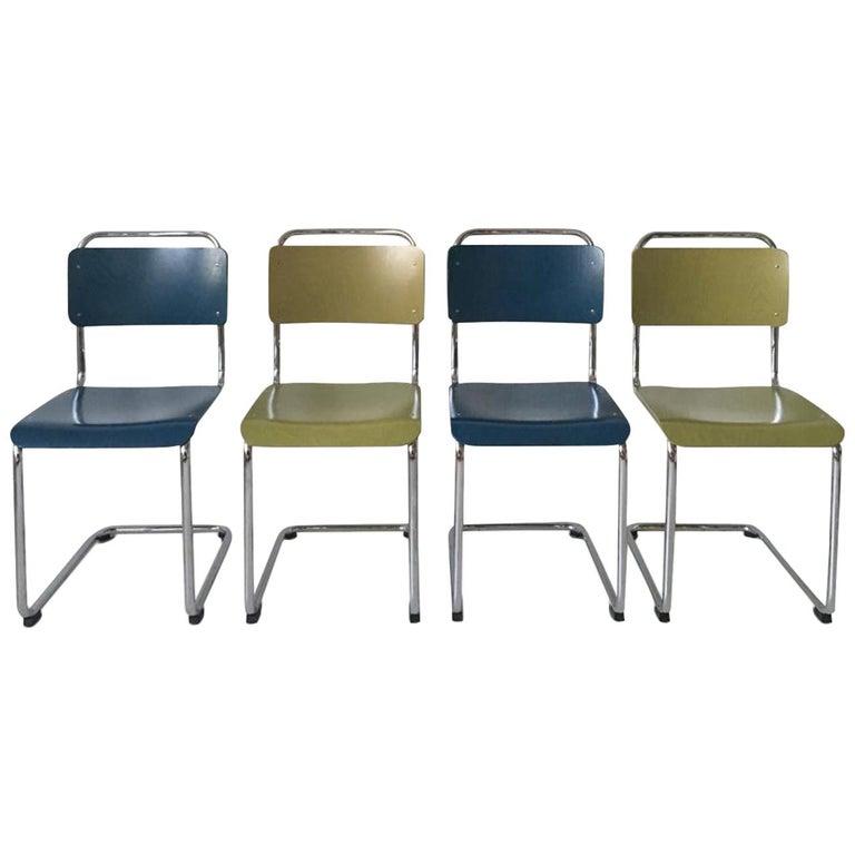 W.H. Gispen Dining Room Chairs, Model 101, Wood, Gebroeders van der Stroom, 2004 For Sale
