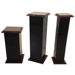 Art Deco Design Macassar Pillars