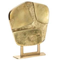 Gilt Bronze Geometrical Shape Sculpture, circa 1970