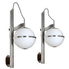 1970s Pair of Pusicona Large Wall Lights by Franco Micolitti, Artemide, Italy