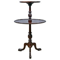 Antique Dumb Waiter, English, Victorian, Mahogany, Two-Tier Table, 19th Century