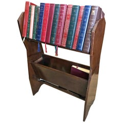 Edwardian Mahogany Book Trough / Stand