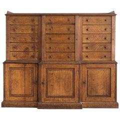 Late 19th Century Oak Wellington Cabinet