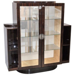 Art Deco Style Vitrine Made of Macassar