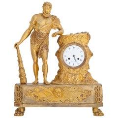 Empire Mantel Clock with Hercules, Paris. circa 1810