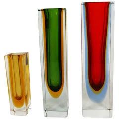 """Murano Glass """"Sommerso"""" Vases"""